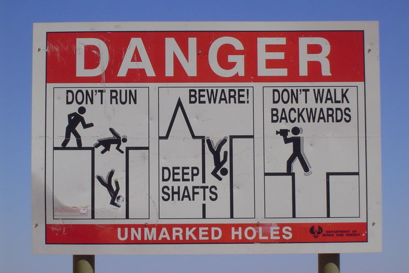 Coober Pedy Warning Sign image