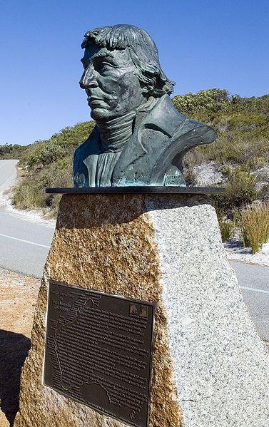 Nicolas Baudin statue, Albany, WA (image)