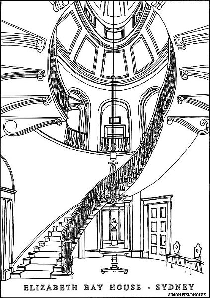 Elizabeth Bay House staircase (image)
