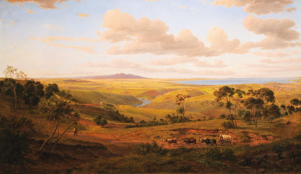 View of Geelong (1856) by Eugene von Guerard (image)