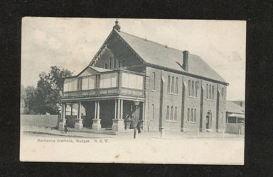 Mudgee Mechanics Institute, 1906 (image)