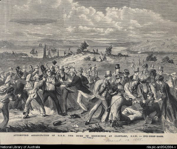 Attempted assassination of Prince Alfred, Clontarf NSW, 1868 (image)