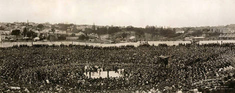Sydney Stadium, Fight of the Century, Jack Johnson, 1908 (image)